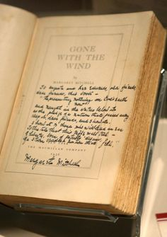 1936 first edition of Gone With the Wind, signed by Margaret Mitchell.