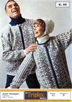 Besseggen Fair Isle Knitting, Hand Knitting, Embroidery Patterns, Knitting Patterns, Viking Pattern, Norwegian Knitting, Vintage Knitting, Hobbies And Crafts, Vest