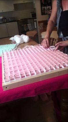 loom board pom pom blanket part 2
