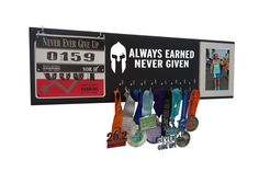 Running medal holder - medal holder - medal hanger - medal display - gifts for runners - running gifts - marathon gift - half marathon gift  You have earned those medals, you deserve to show them off! As runners, we all know how it feels to run on the wall, through it and past it! Now it's time to reward yourself with a running medals hanger! Or perhaps congratulate the athlete in your life with the perfect gift for runners. All of our medals display racks are designed by runners (us) for…