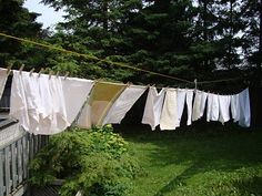 A clothesline will conserve energy, save money and give your laundry that fresh outdoor scent.