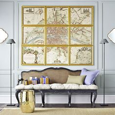 Je T'aime Paris Wall Art - The map is a replica from the century by Albert Jouvin Paris Wall Art, Map Wall Art, Country Bench, European Home Decor, Interior Decorating, Interior Design, Fireplace Wall, Inspiration Wall, Home Accents
