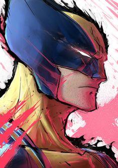Commission work by Saadanwar Marvel Comic Universe, Marvel Vs, Marvel Dc Comics, Anime Comics, Marvel Cinematic Universe, Wolverine Cartoon, Wolverine Art, Logan Wolverine, Gambit Wallpaper