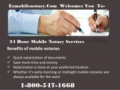 The Burbank #Traveling #Notary - http://www.ezmobilenotary.com has the finest #loandocument #signing agents who would visit you to notarize your legal documents. Call 1-800-547-1668 for 24x7 loan signing services & on-spot emergency notarization on holidays.