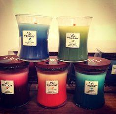 La bougie parfumée  TRILOGY de chez WoodWick! 3 couches= 3 odeurs!