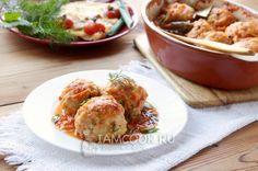 Фото рыбных тефтелей в томатном соусе