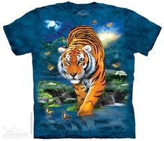 Tiger White Sunshine Youth Kids T Shirt 3D Printed Short Sleeve Crew Neck Tees Shirts for Boys Children