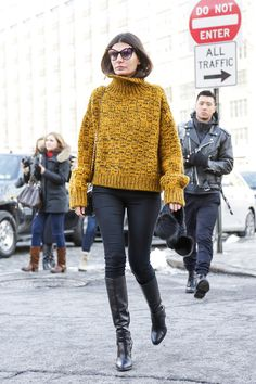 Street Style, New York Fashion Week: Models hamming it up are the real stars…