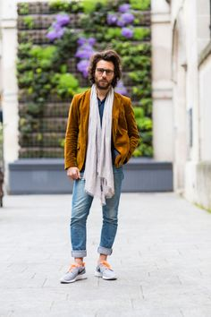 "A French architect and his scarf:  ""Just don't wear it when you're making love. It'll get in the way."""