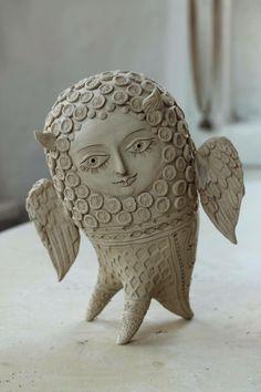 """Képtalálat a következőre: """"elya yalonetski"""" Paper Mache Sculpture, Abstract Sculpture, Sculpture Art, Sculptures, Ceramic Clay, Ceramic Pottery, Pottery Art, Ceramic Figures, Clay Design"""