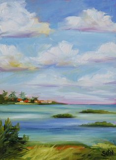 Painting-Oil-Susan O'Neill: Driving Down The Keys