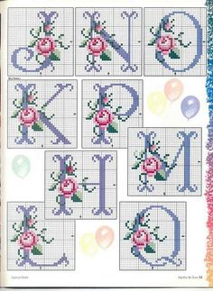 ... Rose cross stitch alphabet 2