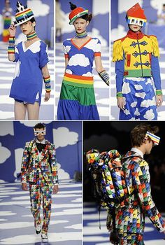 Jean Charles de Castelbajac collection inspired by Lego #lego #fashion #runwaydesign