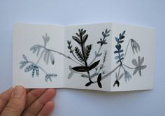 watercolour - artist book:  botanical series - a tiny book of wildflowers