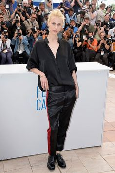 Aymeline Valade attends the Cannes Festival 2014.