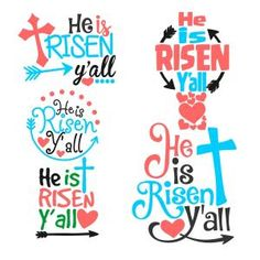 He is Risen Yall Easter Quote Cuttable Design Cut File. Vector, Clipart, Digital Scrapbooking Download, Available in JPEG, PDF, EPS, DXF and SVG. Works with Cricut, Design Space, Sure Cuts A Lot, Make the Cut!, Inkscape, CorelDraw, Adobe Illustrator, Silhouette Cameo, Brother ScanNCut and other compatible software.