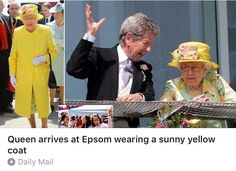 Earlier today, the Queen was seen smiling as she arrived among the 100,000 other spectators who flocked to the event.