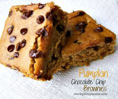 Pumpkin Chocolate Chip Brownies are perfect for fall!