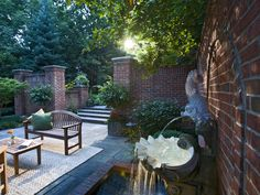 hidden terrace creates private setting    If you don't like prying eyes, take a cue from this classic English walled garden by Robert Hursthouse. The layout offers privacy and seclusion, along with beautiful hidden terraces.