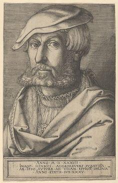 Heinrich Aldegrever (German, 1502–1555/1561). Self-Portrait at Age Thirty-Five, 1537. The Metropolitan Museum of Art, New York. Rogers Fund, 1921 (21.3.4)