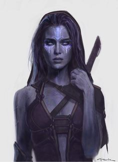 "Andy Park on Twitter: ""Here's an early #Gamora design I did for @Guardians Before she had to be green:"""