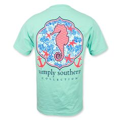 I love the seahorse! Simply Southern Seahorse T-Shirt - Celedon Green