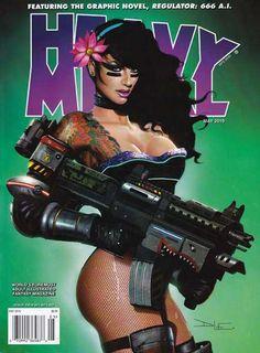 Heavy Metal Magazine - Vol. Heavy Metal Movie, Cyberpunk Movies, Metal Magazine, Movie Magazine, Boris Vallejo, Fantasy Illustration, Dc Universe, Female Art, Comic Art