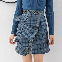 c9d125e76a High Waist Ruffle Plaid Skirt Tartan Pattern, Plaid Skirts, Mini Skirts, Ruffle  Skirt
