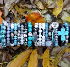 Shop BEAD RUSTIC | Everything 25% OFF | Coupon Code HOLIDAY25 | One-0f-a-Kind Beaded Bracelets