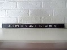 VTG 1970s Aluminum Metal Industrial Sign Asylum Hospital Activities Treatment #1 #Industrial Industrial Signs, Metal Industrial, Metal Signage, Aluminum Metal, Asylum, 1970s, Activities, Vintage, Ebay