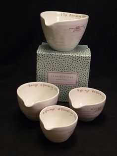 Portmeirion Sophie Conran Measuring Cups White Set Of 4 by Portmeirion - By Sophie Conran. $17.99. Brand New - First Quality. Dimensions: N/A. Measuring Cups White Set Of 4 - Beautiful, Tactile And Practical, All The Pieces In This Collection Have Been Tried And Tested By Sophie And By Us. Whilst Delicate To The Touch And Beautiful To The Eye, Each And Every Porcelain Piec - Made In China