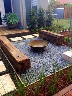 Backyard Seating, Backyard Patio Designs, Small Backyard Landscaping, Fire Pit Backyard, Backyard Ideas, Firepit Ideas, Backyard Pools, Deck Fire Pit, Landscaping Retaining Walls