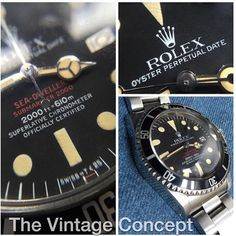 Rolex Double Red Sea Dweller 1665 MK IV Whatsapp: +852-96991000 Email: info@thevintageconcept.com