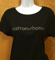 Rhinestone Bling Matron of Honor Wedding Shirt Custom NWT