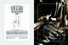 #Agenda Todos los miércoles, sax & gins en vivo en Aída
