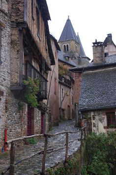 Conques montee rue du Barry, Aveyron, France.  It's supposed to be one of the most beautiful places in the Aveyron.