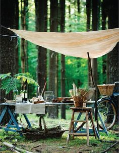 forest picnic/entertaining via sweet paul magazine, Photo: Colin Cooke. Picnic Time, Summer Picnic, Fall Picnic, Garden Picnic, Backyard Picnic, Picnic Parties, Picnic Spot, Dinner Parties, Night Picnic
