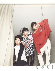 Hyuk, Ravi and Leo - Ceci Magazine January Issue '14