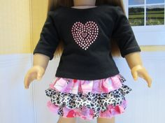 American Girl doll clothes 2 pce pink valentine by JazzyDollDuds, $16.00