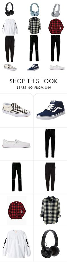 """""""my type of guy"""" by bruhitsmercy on Polyvore featuring Vans, Yves Saint Laurent, Juun.j, Urban Outfitters, Rails, Master & Dynamic, Sony and my"""