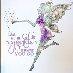 Button Art magical framed Fairy in lilac & silver. Super