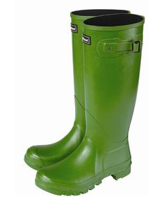 Barbour gumboots in green...