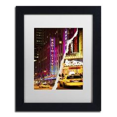 """Trademark Art Taxis Manhattan by Philippe Hugonnard Framed Photographic Print Size: 14"""" H x 11"""" W x 0.5"""" D"""