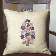 The Matka Silk Range Machine hand embroidered Mughal Motif