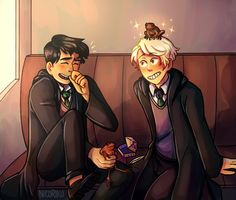 Scorbus fan art by Nicoriku on Tumblr - ah the things scorpius will do to make albus laugh :'}