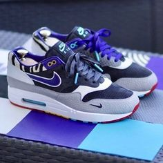 Nike Airmax 1 x Bespoke Air Max 1, Nike Air Max, Nike Air Force 1, Best Sneakers, Air Max Sneakers, Sneakers Fashion, Shoes Sneakers, Nike Airmax 90, Nike Free Run