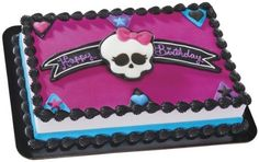 Monster High Skullette and Hearts Decoset ~ Designer Cake/Cupcake Topper ~ NEW! ** Special discounts just for this time only : Baking decorations Monster High Birthday Cake, Monster High Cakes, Monster High Party, Birthday Cake Girls, Birthday Cakes, Birthday Ideas, 5th Birthday, Heart Cake Design, Cumple Monster High