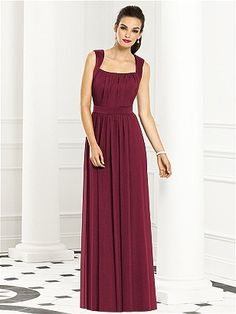 bridesmaid dress with straps and cinched waist