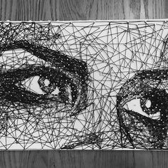 """Commissioned 12""""x18"""" #StringArt of @marieavgeropoulos as #OctaviaBlake from #The100 for @em.mnm String Art Diy, Diy Wall Art, Fabric Painting, Painting & Drawing, Arte Linear, String Art Patterns, Artistic Installation, Thread Art, Textile Artists"""