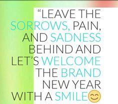 Leave the sorrows, pain and sadness behind and let's welcome the brand new year with a smile. #happy #fun #enjoy #newyear #happynewyear2017